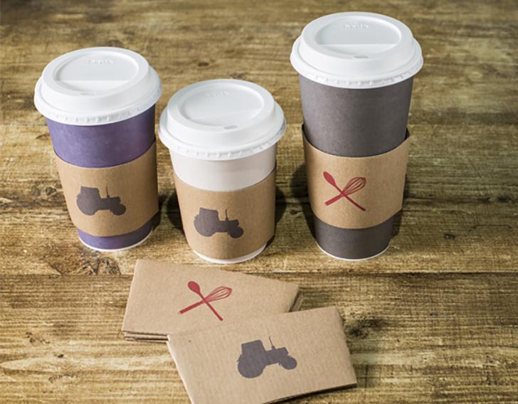 Westmorland Family packaging  cups sleeves
