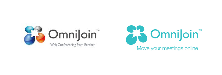 Brother Omnijoin logo: before and after