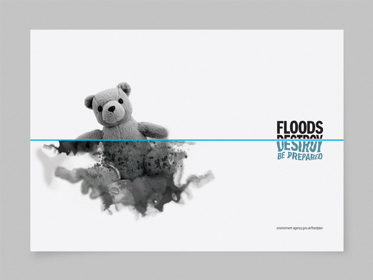 Environment Agency Floods Destroy Campaign Advert