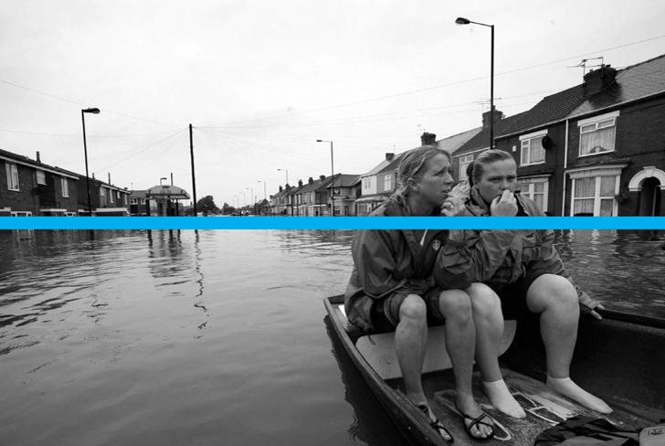 Environment Agency Floods Destroy blue line device
