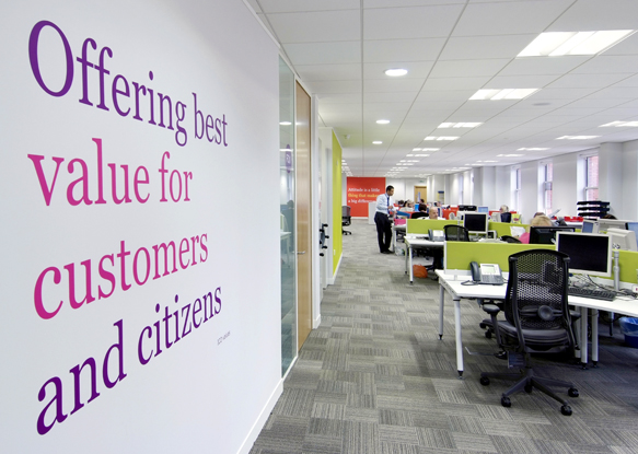 ICO office environmental graphics value