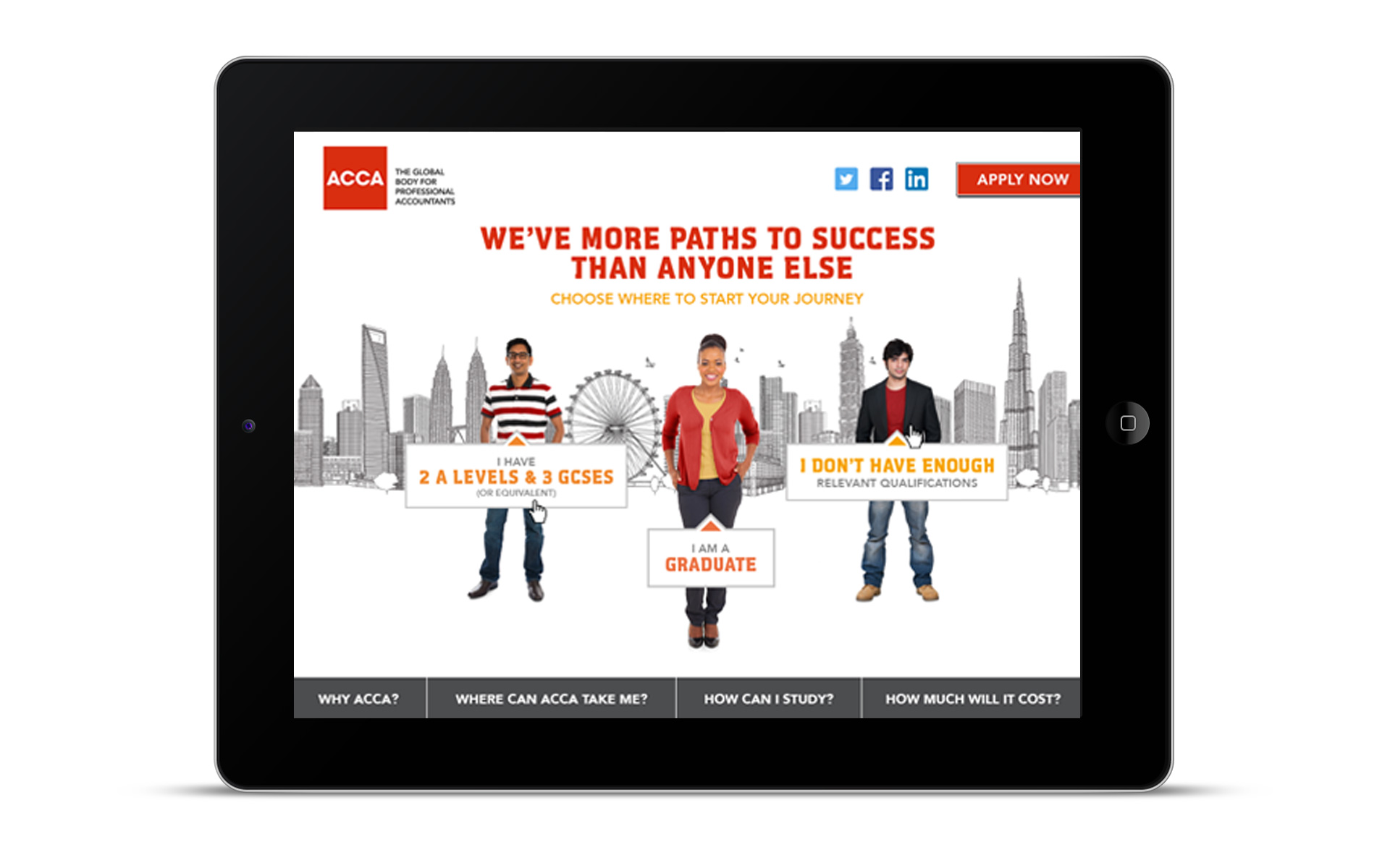 ACCA Microsite Home More Paths