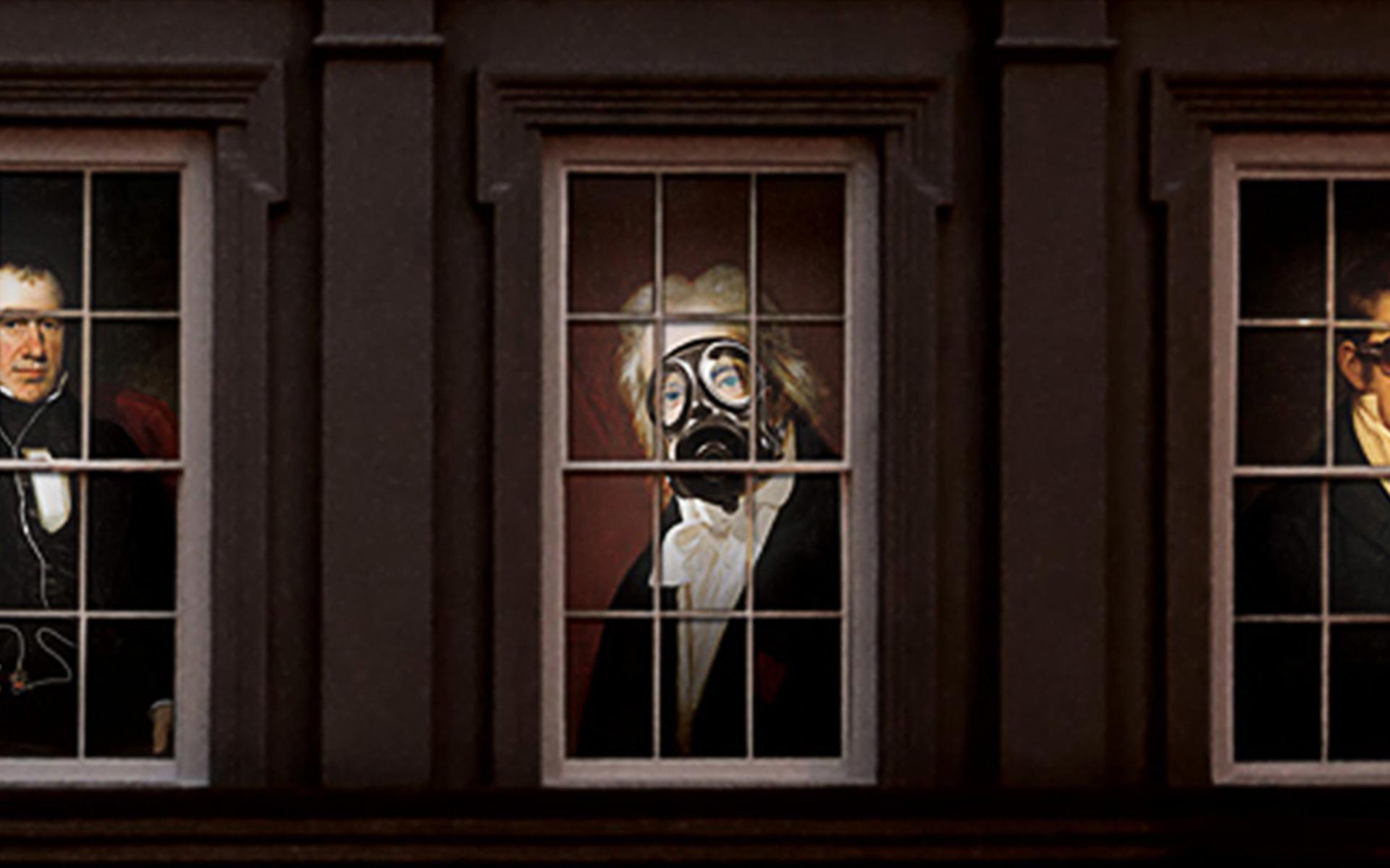 Oddfellows Window Closeup