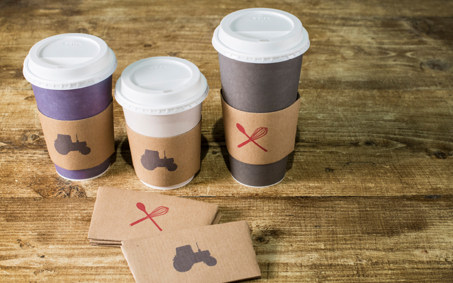 Westmorland Family packaging  cups sleeves