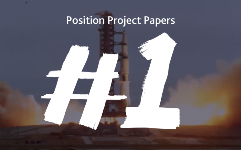 Paper #1 | Position is a rocket that will fly you to the moon